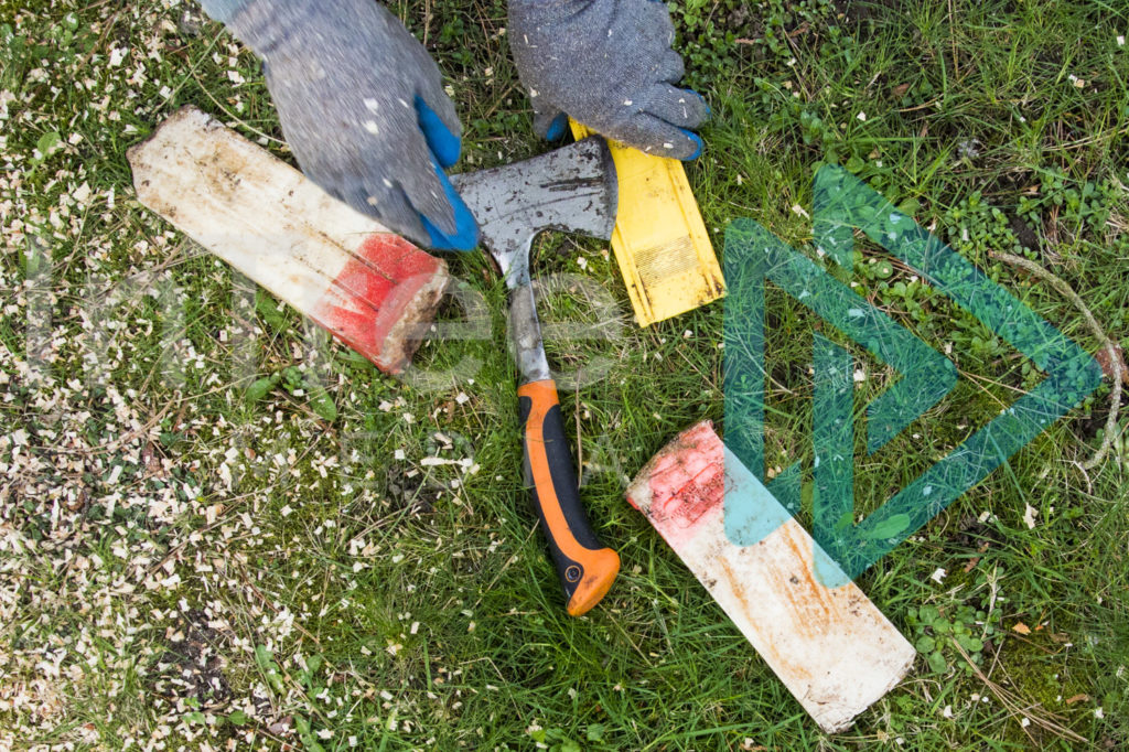Protected: Hands-reaching-for-felling-wedges-and-hatchet-InTree-arborist-image-001-9900
